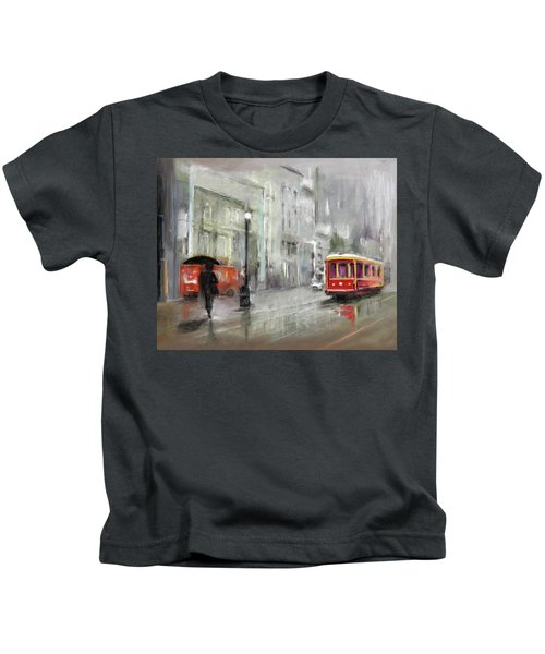 The Woman In The Rain Kids T-Shirt
