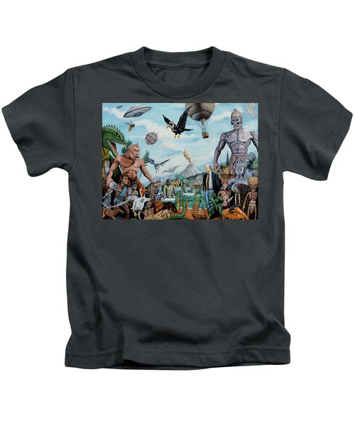 The World Of Ray Harryhausen Kids T-Shirt by Tony Banos