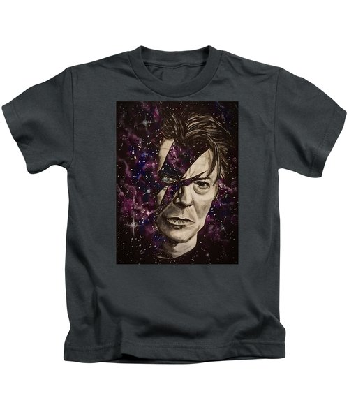 There's A Starman Waiting In The Sky Kids T-Shirt