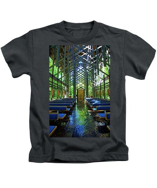 Thorncrown Chapel Serenity Kids T-Shirt