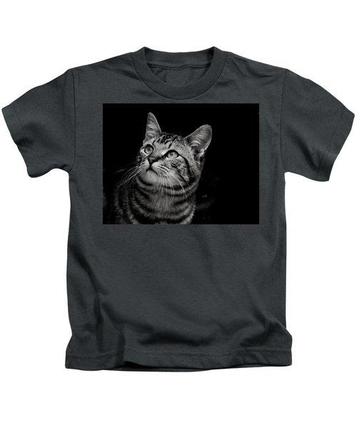 Thoughtful Tabby Kids T-Shirt