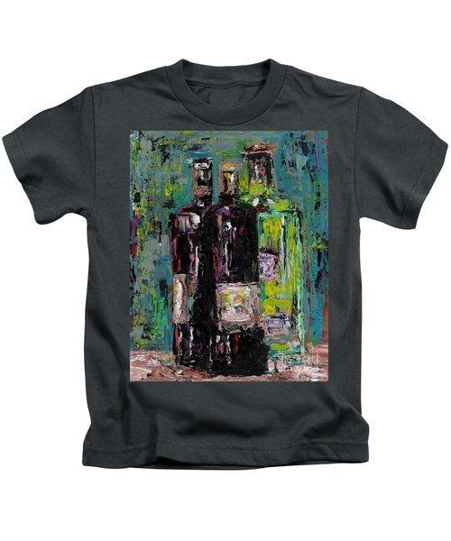 Three Bottles Of Wine Kids T-Shirt