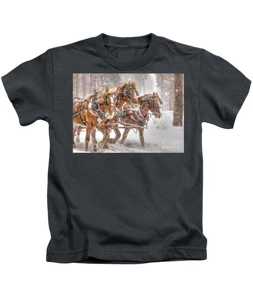 Three Horses - Color Kids T-Shirt