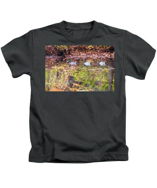 Three Mallards. Kids T-Shirt