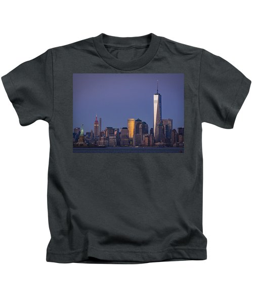 Three New York Symbols Kids T-Shirt