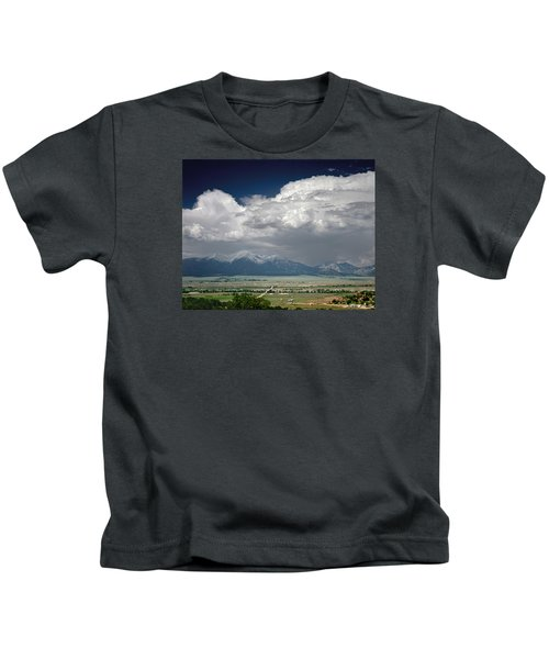 210736-thunderheads Over Mt. Princeton  Kids T-Shirt