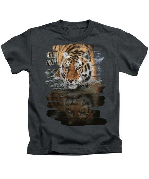 Tiger In Water Kids T-Shirt