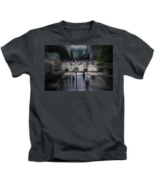 Time Traveller Kids T-Shirt by Martin Newman