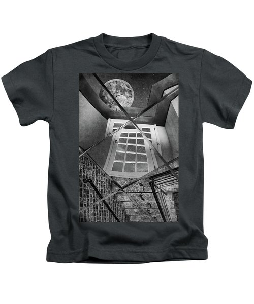 Time's Up - Black And White Kids T-Shirt