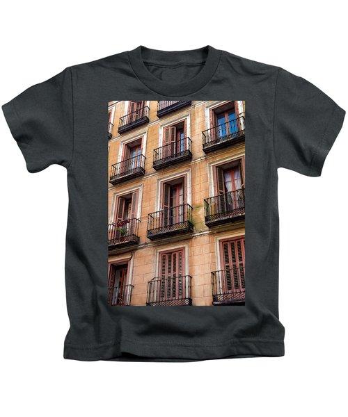 Tiny Iron Balconies Kids T-Shirt