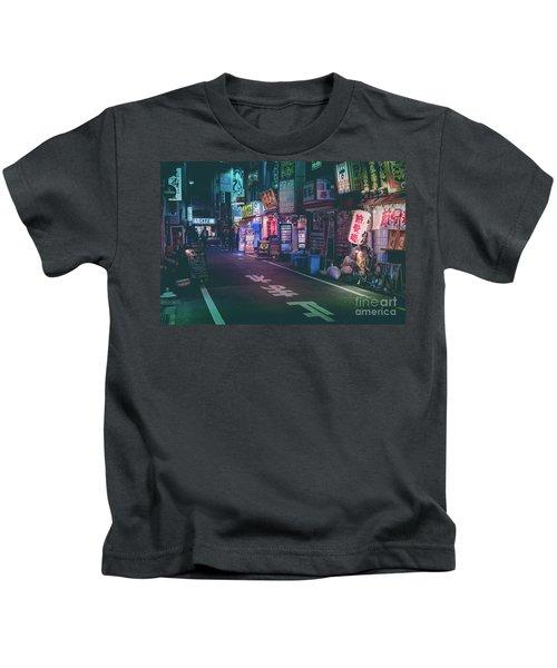 Tokyo Side Streets, Japan Kids T-Shirt