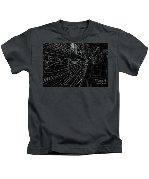 Tokyo To Kyoto, Bullet Train, Japan Negative Kids T-Shirt
