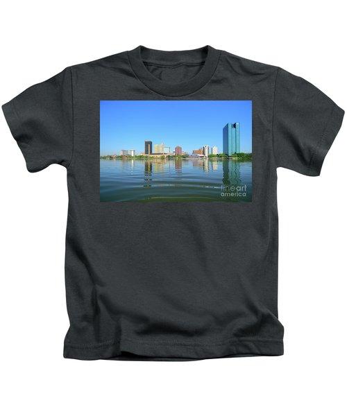 D12u-673 Toledo Ohio Skyline Photo Kids T-Shirt