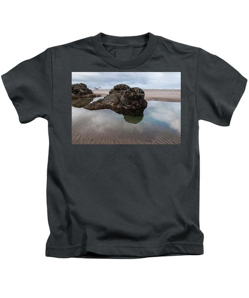 Tolovana Beach At Low Tide Kids T-Shirt