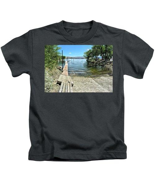 Topaz Landing Boat Launch Kids T-Shirt