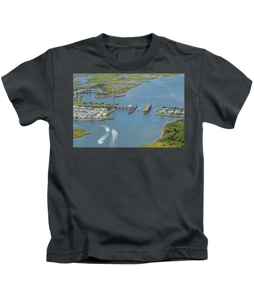 Topsail Island Top Of The Hour Kids T-Shirt