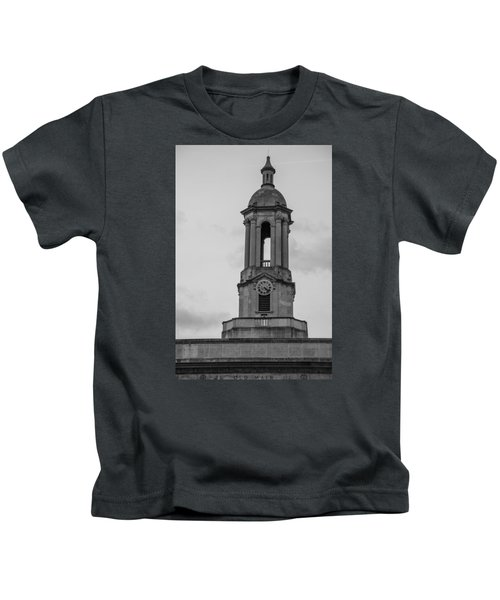 Tower At Old Main Penn State Kids T-Shirt by John McGraw