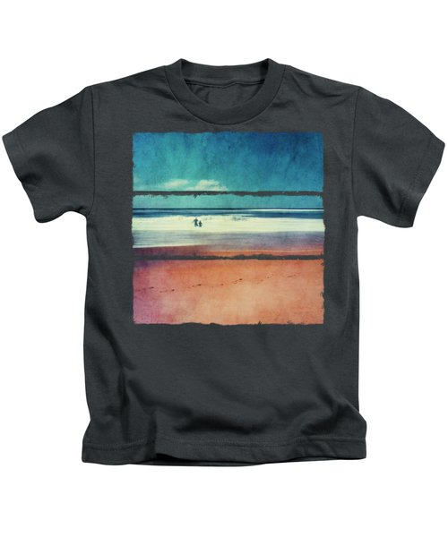 Traces In The Sand Kids T-Shirt