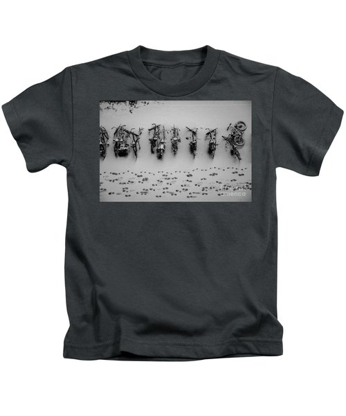 Tracks N Bicycles Kids T-Shirt
