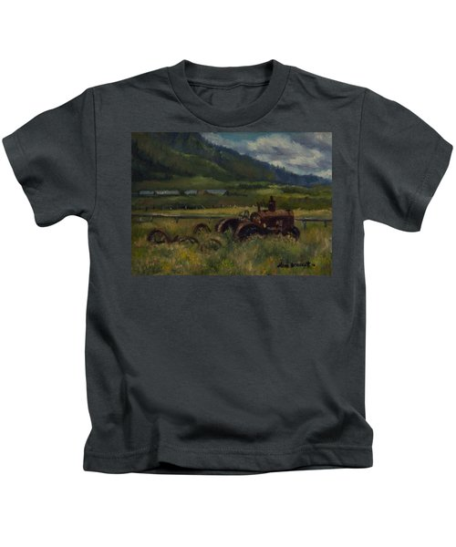 Tractor From Swan Valley Kids T-Shirt