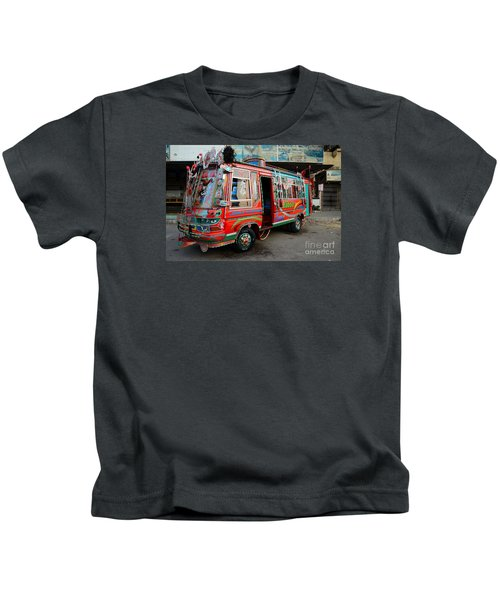 Traditionally Decorated Pakistani Bus Art Karachi Pakistan Kids T-Shirt
