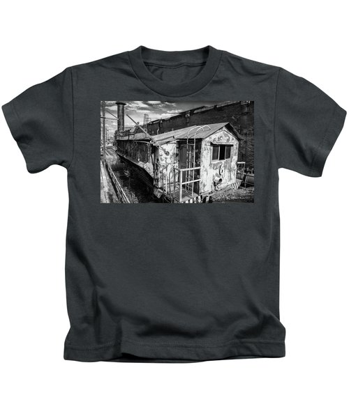 Train 6 In Black And White Kids T-Shirt