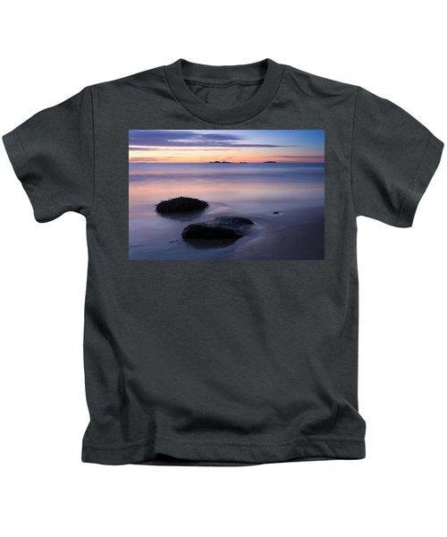 Tranquil Morning Singing Beach Kids T-Shirt