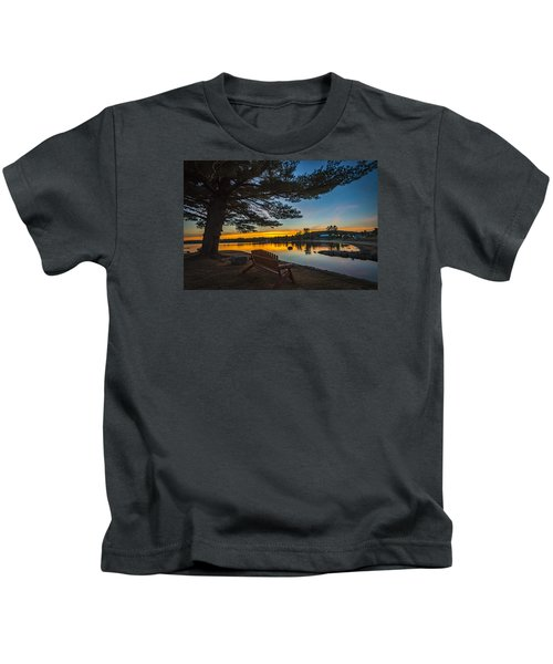 Tranquility At Sunset Kids T-Shirt
