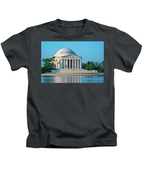 Tranquility At The Jefferson Memorial Kids T-Shirt