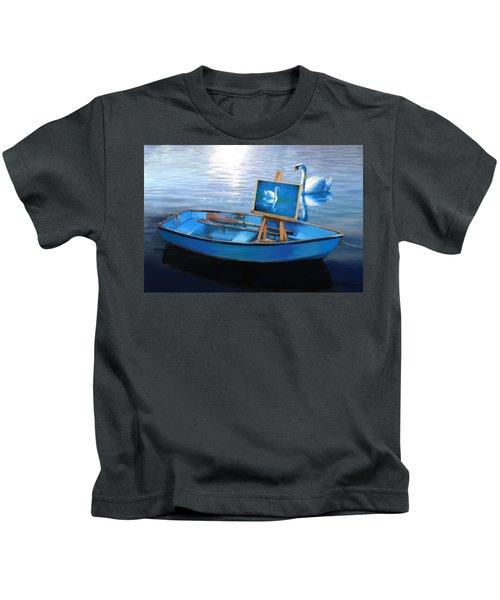 Tranquility Kids T-Shirt by Nanda Dixit