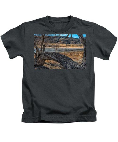 Tree At Elizabeth Lake Kids T-Shirt