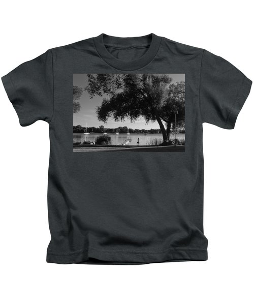 Tree At The Water Kids T-Shirt