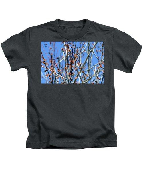 Tree Bud Closeup Kids T-Shirt