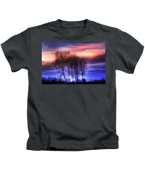 Trees And Twilight Kids T-Shirt