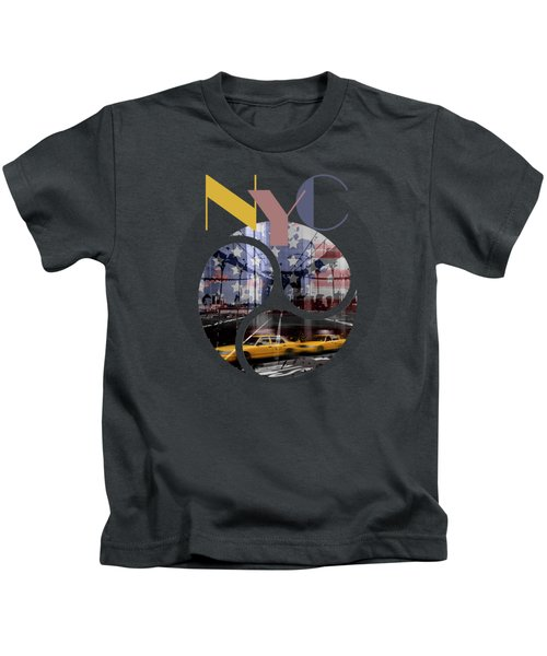 Trendy Design New York City Geometric Mix No 2 Kids T-Shirt