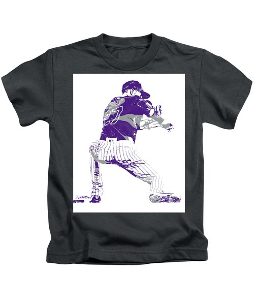 Trevor Story Colorado Rockies Pixel Art 11 Kids T-Shirt