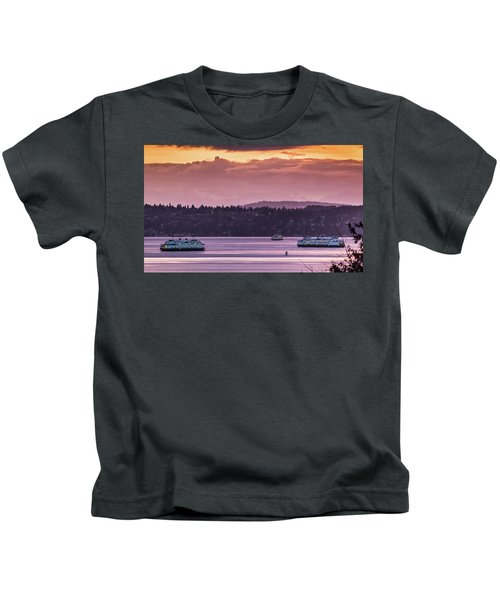 Triangle Ferry Run Kids T-Shirt