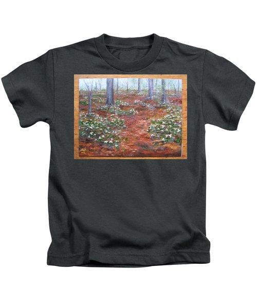 Trilliums After The Rain Kids T-Shirt