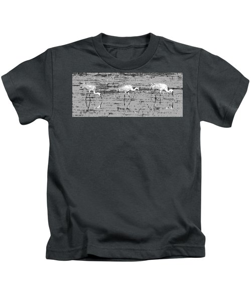 Trio Of Cranes Kids T-Shirt