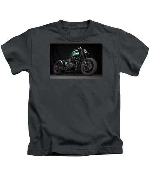 Triumph Green Bobber Kids T-Shirt