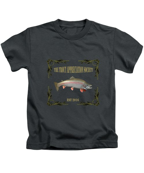 Trout Appreciation Society  Kids T-Shirt