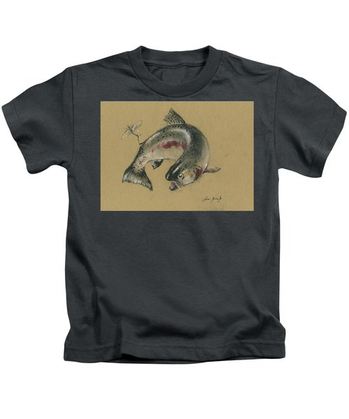 Trout Eating Kids T-Shirt