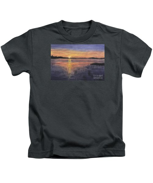 Trout Lake Sunset II Kids T-Shirt