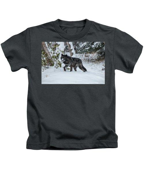 Tundra Wolf 6701 Kids T-Shirt