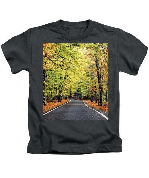 Tunnel Of Trees Kids T-Shirt
