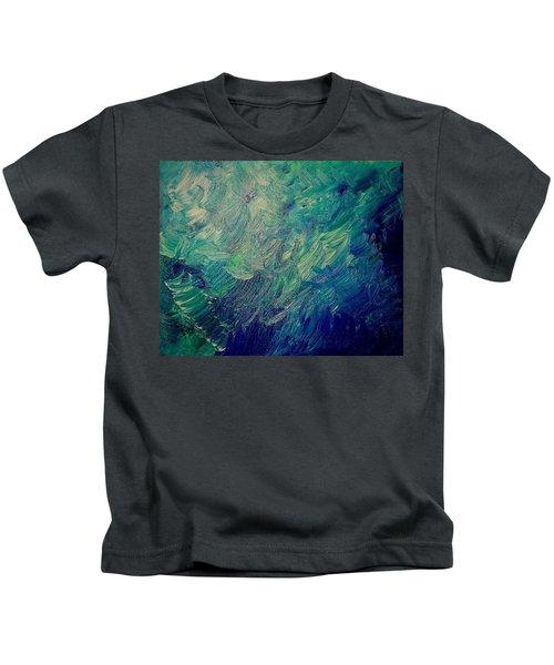 Turbulent Sea Kids T-Shirt