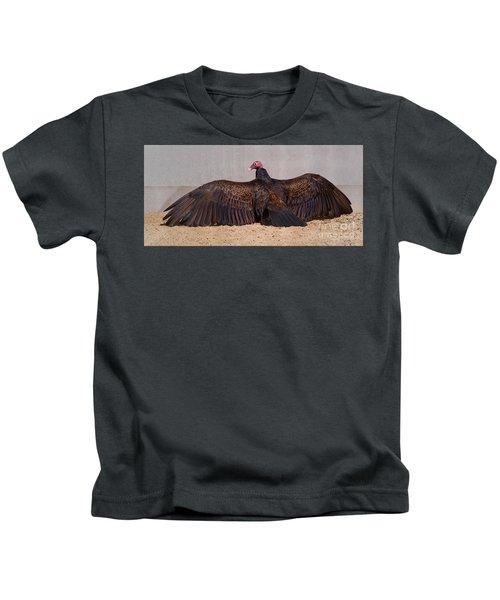 Turkey Vulture Spreading Wings Kids T-Shirt