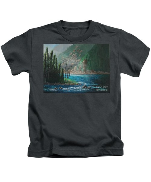 Turquoise River Kids T-Shirt