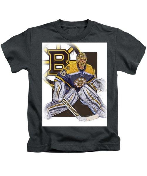Tuukka Rask Boston Bruins Oil Art 1 Kids T-Shirt