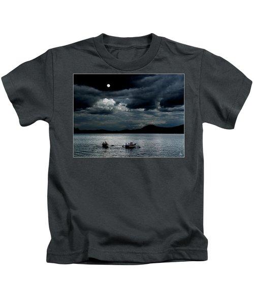 Twice In A Blue Moon Kids T-Shirt